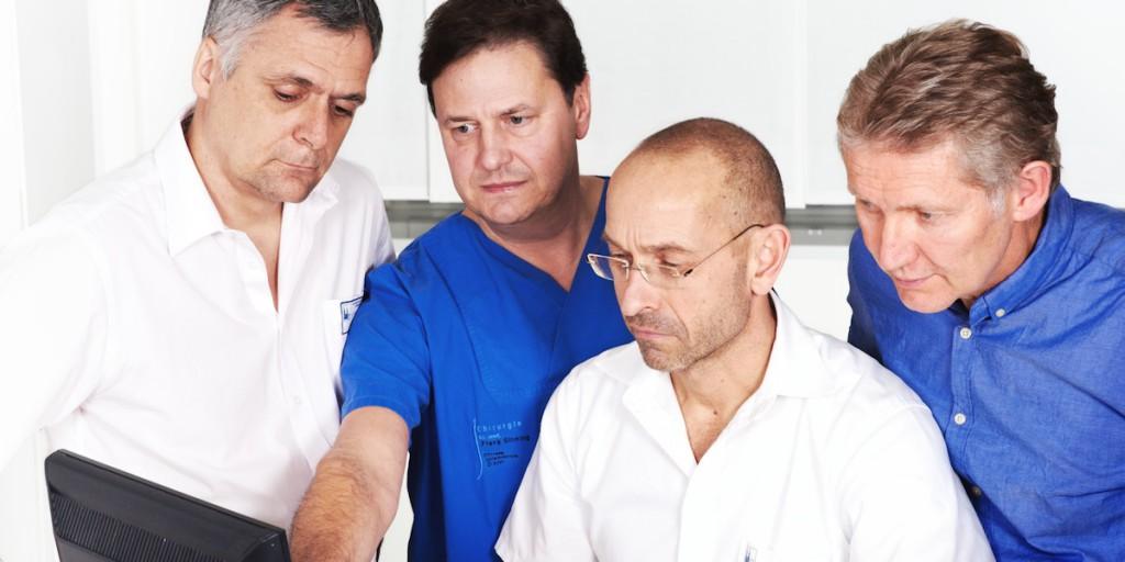 Prof. Dr. med. Klaus Günther, Dr. med. Hans-Peter Koerfgen, Dr. med. Hartmut Roth, Dr. med. Frank Sinning
